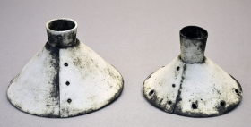 Two 2 piece Candlesticks