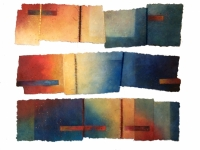 'Changement 1,2,6', each approx 151cm x 40, £875 each, £1,700 set of 1 & 2