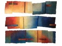 'Changement 1,2,6', each approx 151cm x 40, £875 each, £1,700 set of 1 & 2