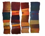 'Colour Waves 1,2,3,4', each approx 129.5cm x 41, £875 each
