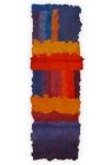 'BUILDING', 118 x 41cm, cellulose fibre, cellulose dye, acrylic size, wax, linen-thread, £550