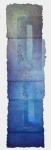 'LONG-BLUE' 190 x 47cms, Cellulose fibre, acrylic paint, wax, linen thread, £1,480
