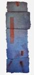 'LONG DAY', 156 x 52cm, Cellulose fibre, acrylic paint, wax, linen thread, £1,250