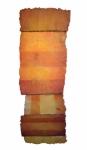 'LONG LINE 4', 197 x 64cms. Cellulose fibre, acrylic paint, wax, linen thread, £1,650