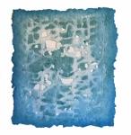 'QUIET CONFUSION', 49 x 44cms. Cellulose fibre, cellulose dye, acrylic size, £525