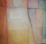 Tissue 2, acrylic on found linen,103 x 106cm, £1,450